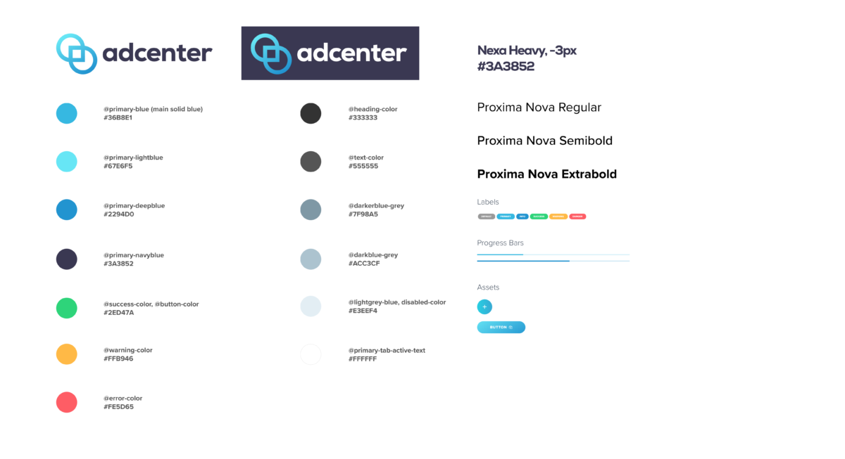 Color Palette for New Ad-Center