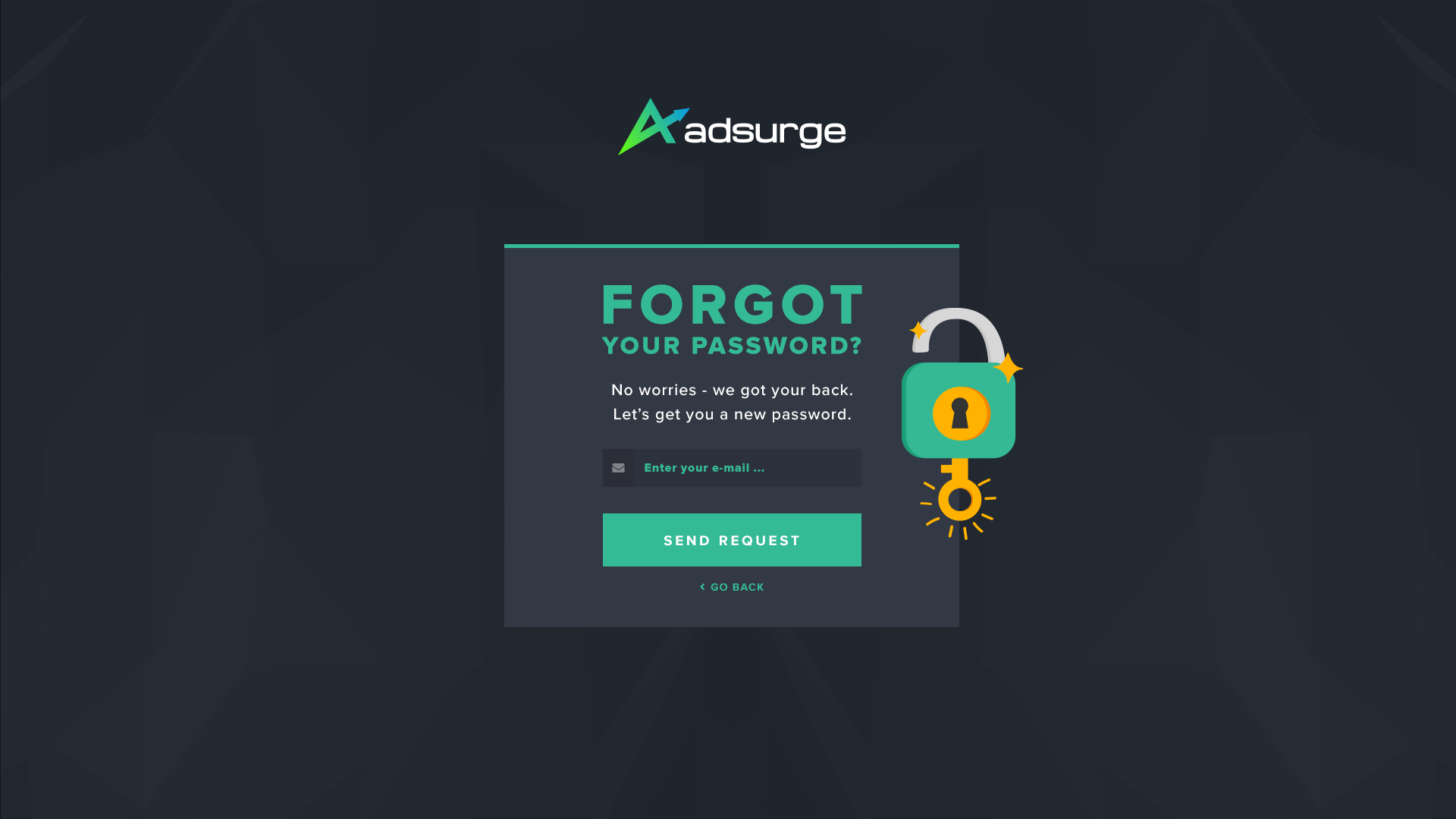 Sign in - Forgot Password Request