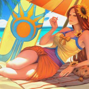 Official Pool Party Leona Splash Art